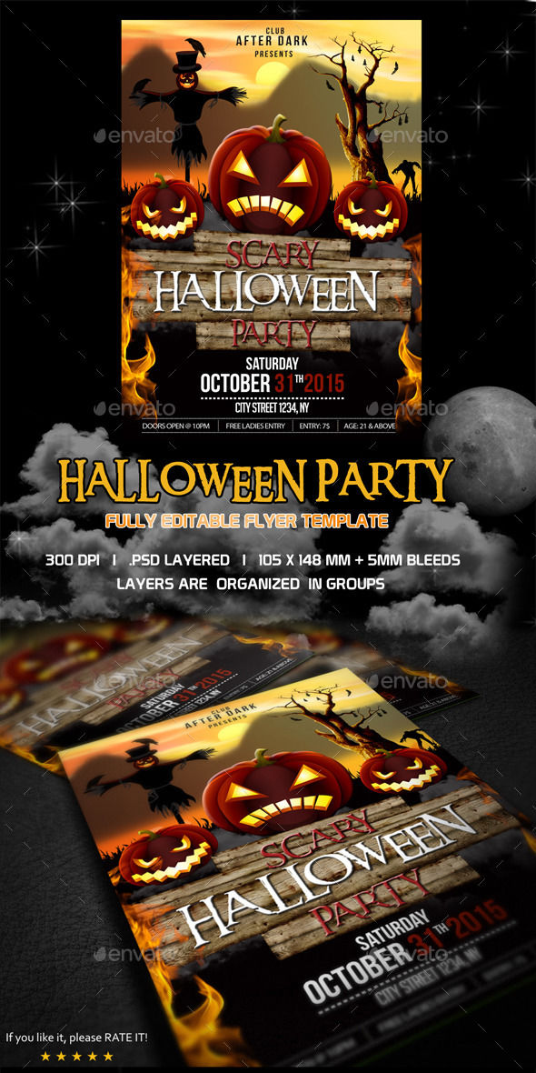 Halloween Flyer by Kukidizajn (Halloween party flyer)