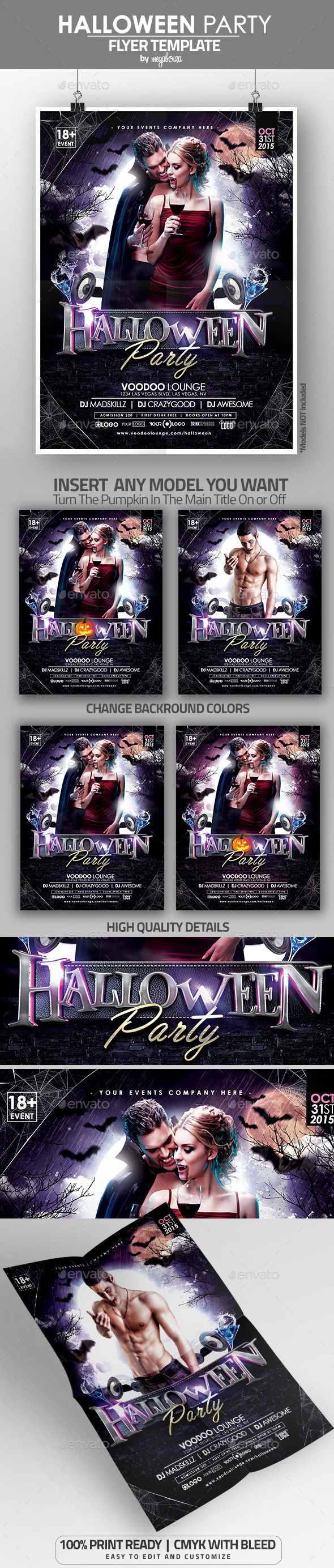 Halloween Party Flyer by Megaboiza (Halloween party flyer)