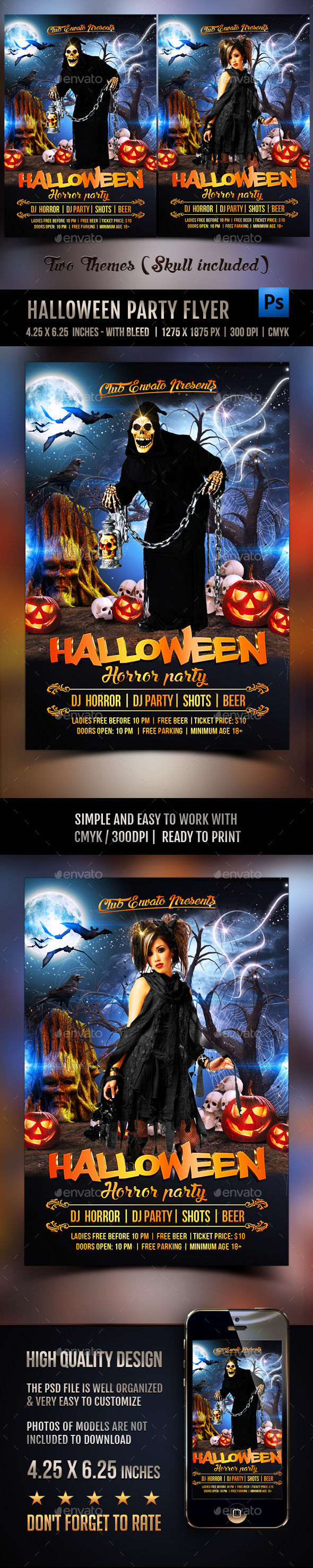 Halloween Party Flyer by Rembassio (Halloween party flyer)