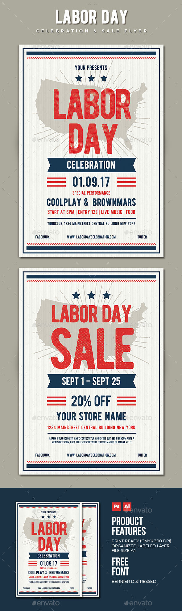 Labor Day Flyer by Vynetta (Labor Day party flyer)