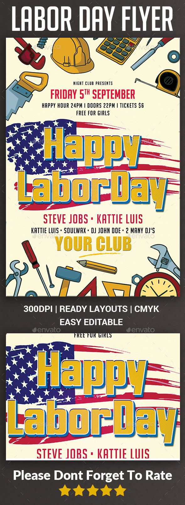 Labor Day Flyer by Afjamaal (Labor Day party flyer)