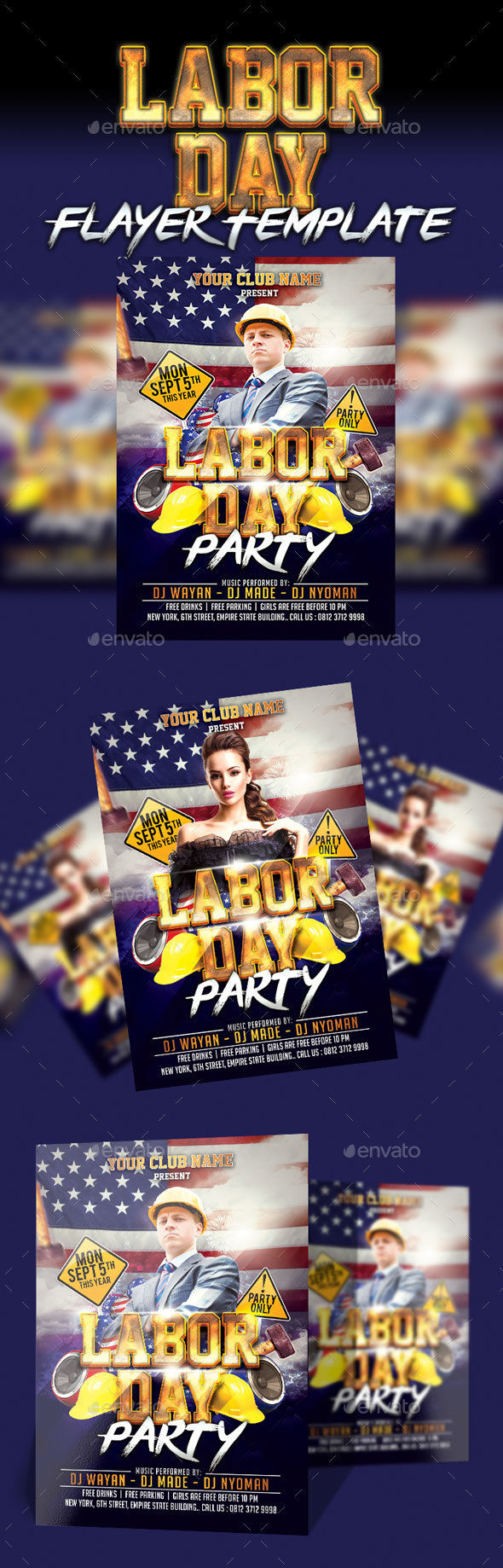 Labor Day Party Flyer by Eyestetix (Labor Day party flyer)