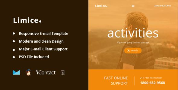 Limice by Williamdavidoff (email templates for use with Mailchimp)