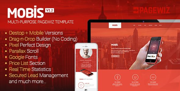 Mobis by IamGrv (landing page template for PageWiz)