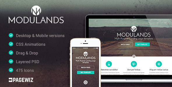 Modulands by Mylanko (landing page template for PageWiz)