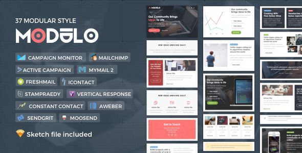 Modulo by Nutzumi (email templates for use with Mailchimp)