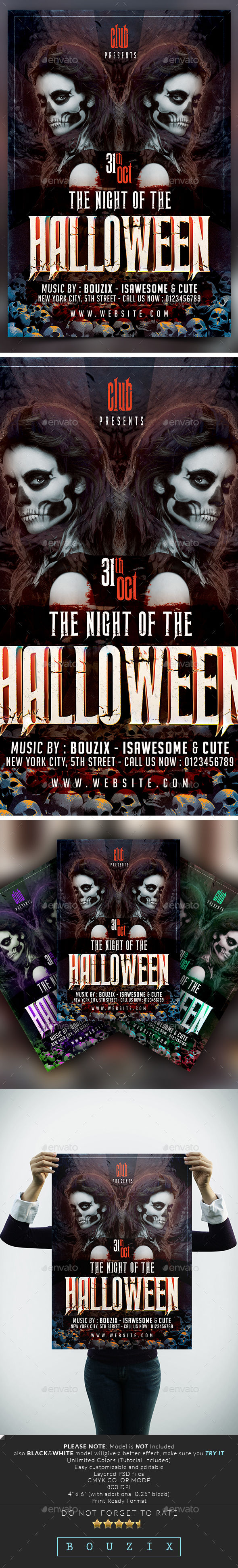 Night Of Halloween by Bouzix (Halloween party flyer)