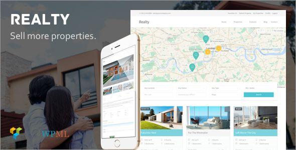 Realty by ThemeTrail (real estate and realtor WordPress theme)