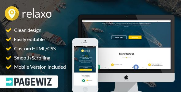 Relaxo by Pixilito (landing page template for PageWiz)