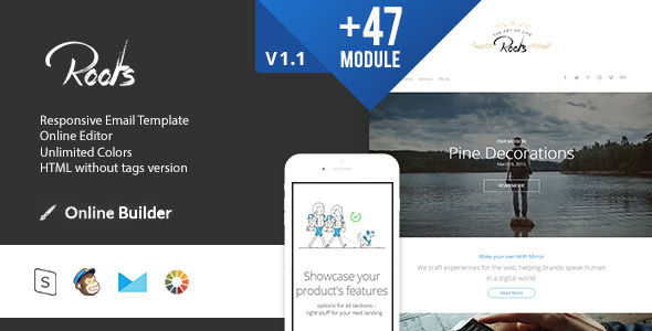 Roots by Masline (email templates for use with Mailchimp)
