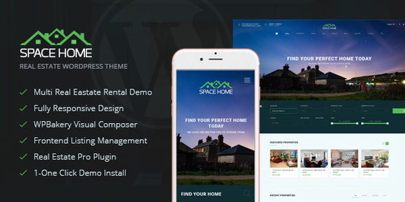 Space Home by Plazart (real estate and realtor WordPress theme)