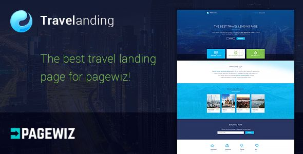 Travel Landing Page For Pagewiz by MatArt (landing page template for PageWiz)