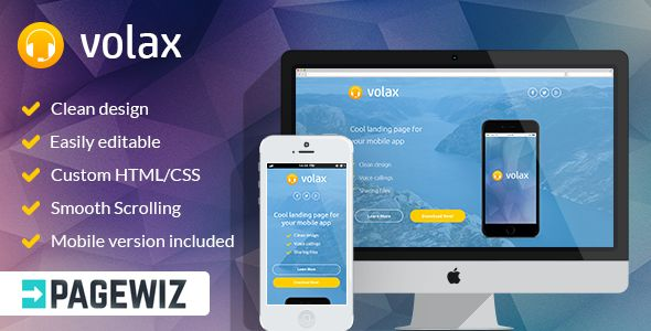 Volax by Pixilito (landing page template for PageWiz)
