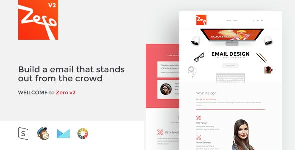 Zero by Zay01 (email templates for use with Mailchimp)