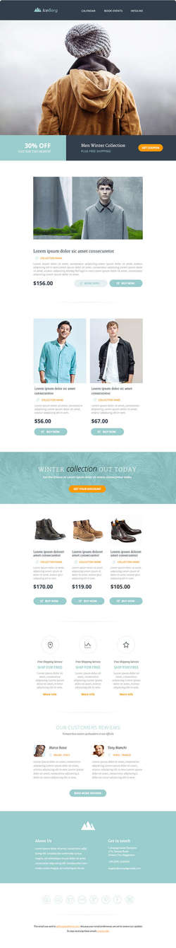 Iceberg - Responsive Email Templates - Builder