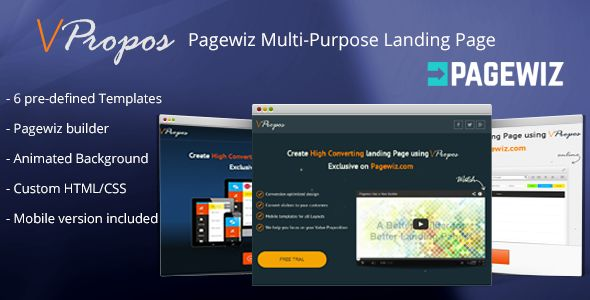 VPropos by CreativeSpeed (landing page template for PageWiz)