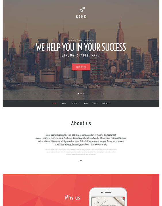 bank financial wordpress themes