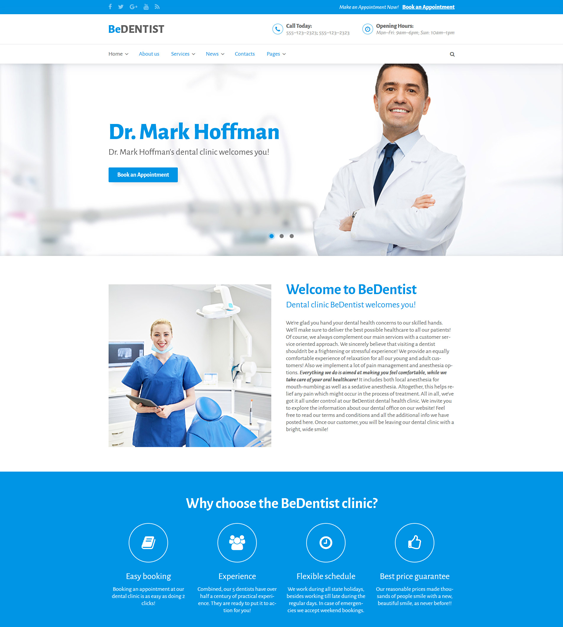 bedentist medical wordpress themes