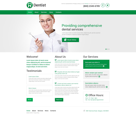 dentistry medical wordpress themes