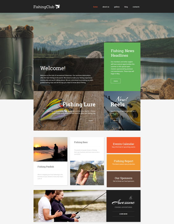 fishing sports wordpress themes
