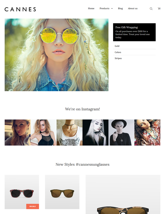 flow cannes responsive shopify themes