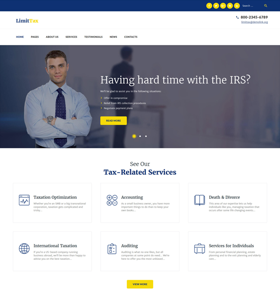 limittax financial wordpress themes