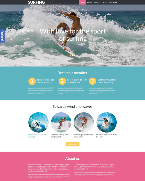 surfing sports wordpress themes