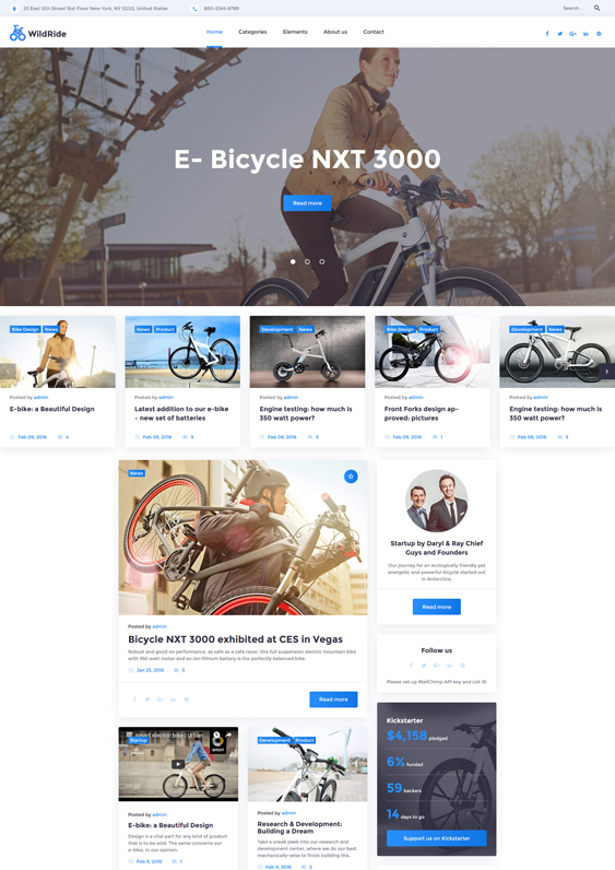 wildride sports wordpress themes