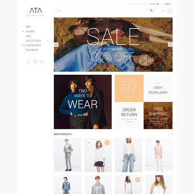 ATA (Magento theme for mens and womens clothing) Item Picture