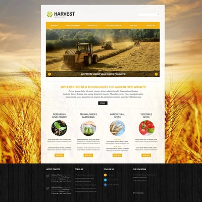 Agriculture Responsive Joomla Template (Joomla theme for agriculture and farms) Item Picture