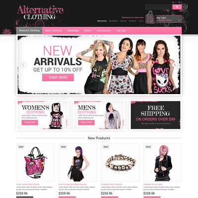 Alternative Clothing Store Magento Theme (Magento theme for mens and womens clothing) Item Picture