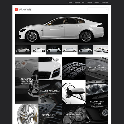 Auto Parts Responsive WordPress Theme (WordPress theme for car, vehicle, and automotive websites) Item Picture