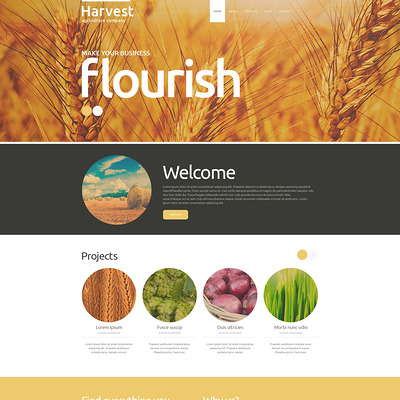 Buy Grow Harvest Team Joomla Template (Joomla theme for agriculture and farms) Item Picture