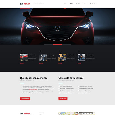 Car Repair Responsive WordPress Theme (WordPress theme for car, vehicle, and automotive websites) Item Picture