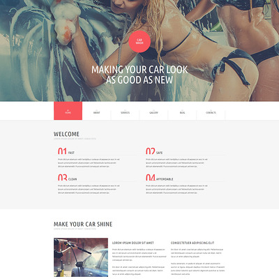 Car Wash WordPress Theme (WordPress theme for car, vehicle, and automotive websites) Item Picture
