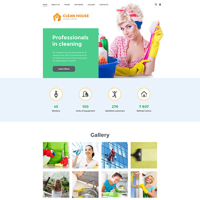 Cleaning Company Joomla Template (Joomla template for cleaning companies and maid services) Item Picture