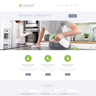 Cleaning Services WordPress Theme (WordPress theme for cleaning companies and maid services) Item Picture