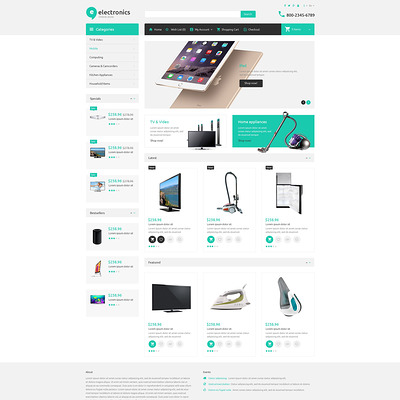 Electronic Store OpenCart Template (OpenCart theme for electronics) Item Picture