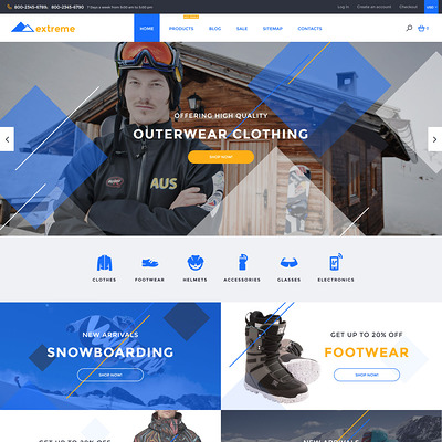 Extreme Shopify Theme (Shopify theme for sports stores) Item Picture