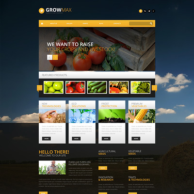Farm Industry WordPress Theme (farming and agricultural WordPress theme) Item Picture