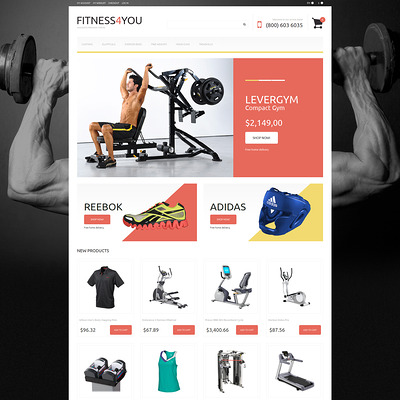 Fitness Responsive Magento Theme (Magento theme for sports stores) Item Picture