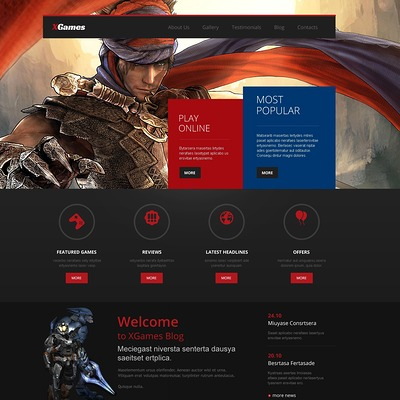 Games Responsive WordPress Theme (WordPress theme for game portal websites) Item Picture