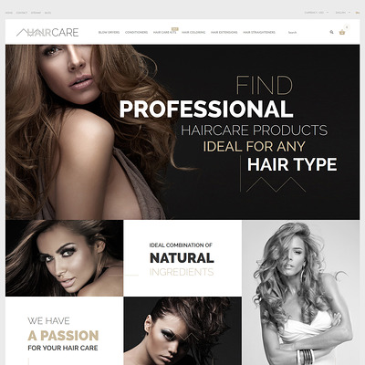 Hair Care PrestaShop Theme (PrestaShop theme for hair extensions and hair products) Item Picture