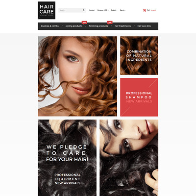 Hair Gloss PrestaShop Theme (PrestaShop theme for hair extensions and hair products) Item Picture