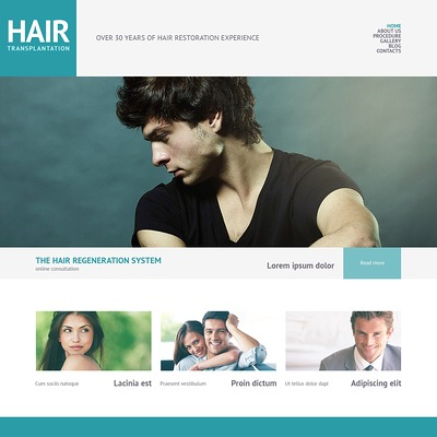 Hair Salon Responsive WordPress Theme (WordPress theme for hair and beauty salons and spas) Item Picture