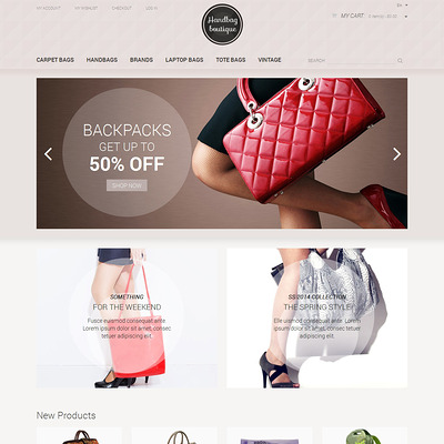 Handbag Boutique Magento Theme (Magento theme for selling handbags and purses) Item Picture
