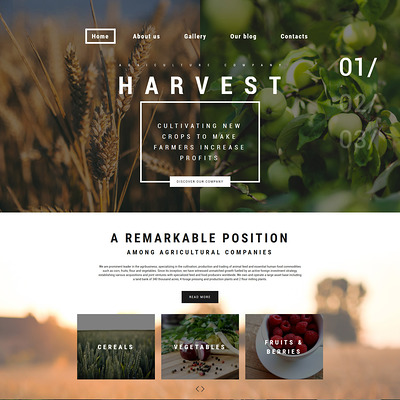 Harvest WordPress Theme (farming and agricultural WordPress theme) Item Picture