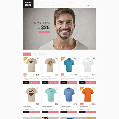 Home and Office Outfit PrestaShop Theme (PrestaShop theme for t-shirt stores) Item Picture