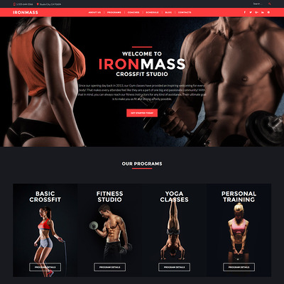 IronMass (WordPress theme for gym and fitness) Item Picture