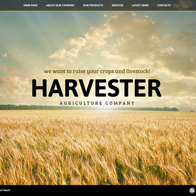 Large Picture Agriculture Joomla Template (Joomla theme for agriculture and farms) Item Picture